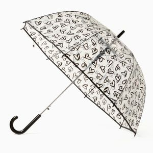 Kate spade clear bubble heart pattern umbrella nwt